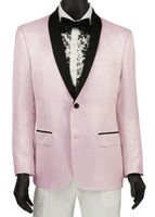 Stylish Tuxedo Jacket Men's Shiny Pink Tux Blazer Vinci BSF-6 Size Large Final Sale