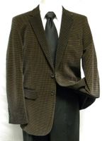 Successo Mens Brown Hounds Tooth Velvet Jacket 6083 Final Sale