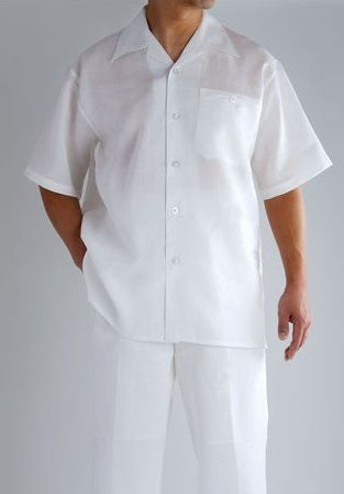 All White Outfits For Men Linen Fabric Successo SP1065