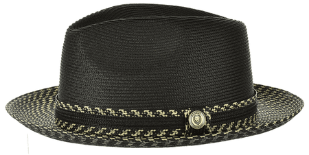 Summer Hats for Men Black Natural Fedora Bruno MA924