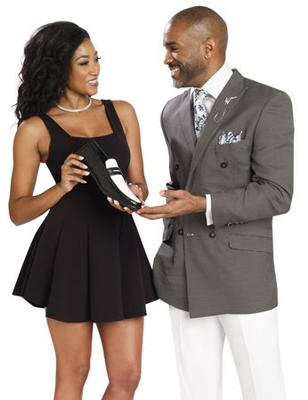 EJ Samuel Double Breasted Summer Suit Black Nailshead M2702 - click to enlarge
