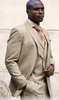 Steven Land Mens Tan Glen Plaid DB Vest Suit Walter SL77-786 IS