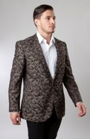 Slim Fit Dinner Jacket Mens Brown Patterned Tazio MJ153S-02
