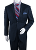 Vittorio St. Angelo Mens Navy Windowpane Modern Fit Suit A62PD