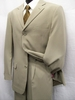 Tazio Mens Putty Tan 3 Button Suit  M069