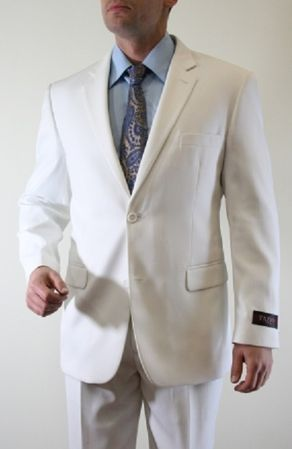 Tazio Mens White Tonal Fine Pinstripe 2 Button Suit M102 IS - click to enlarge