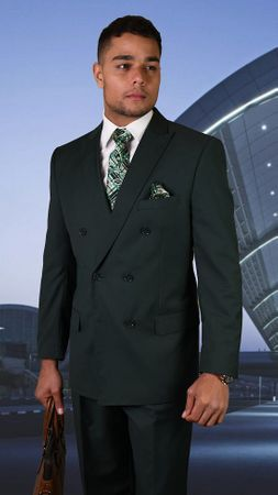 Statement Hunter Italian Wool Double Breasted Suits TZD-100