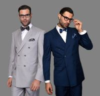 Statement Wool Double Breasted Suits