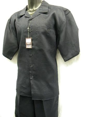 Trust Mens Big Size Navy Linen Casual Outfit L601P