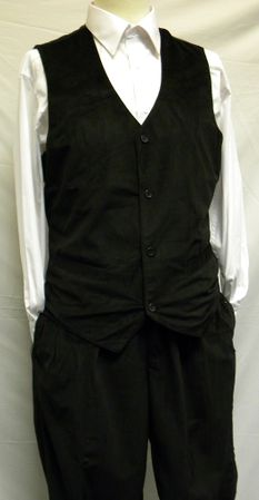 Trust Mens Black Velvet Vest And Pants Set VV1234
