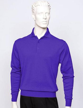 Tulliano Mens Silk Polo Sweater Purple Fine Knitwear Marc 8517 - click to enlarge