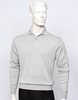 Tulliano Mens Silk Polo Sweater Silver Fine Gauge Knit Marc 8517