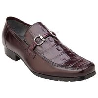 Belvedere Shoes Mens Burgundy Alligator Top Gucci Style Loafer Plato