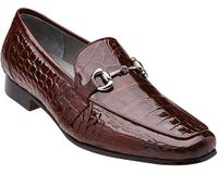 Belvedere Burgundy Alligator Gucci Style Loafer Men's Gerald