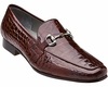 Belvedere Burgundy Alligator Italian Style Loafer Men's Gerald