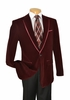 Velvet Blazer by Vinci Mens  1 Button Blazers B-16