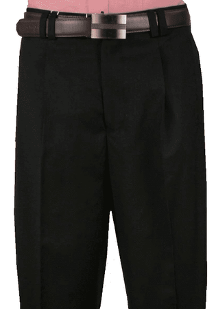 Veronesi Mens Black White Plaid Wool Wide Leg Dress Pants 666100 - click to enlarge
