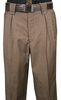 Veronesi Men's Fine Wool Wide Leg Dress Pants Brown Houndstooth 555132