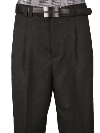 Veronesi Men's Fine Wool Wide Leg Dress Pants Charcoal 666115 - click to enlarge