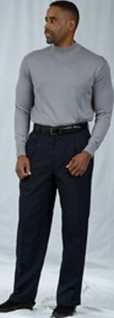 Pacelli Navy Blue Pleated Baggy Fit Dress Pants 810001