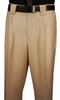 Veronesi Men's Wool Wide Leg Dress Pants Herringbone Cream 555147