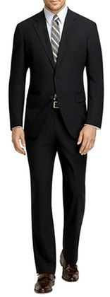 Vinci Men's Solid Black Extra Slim Fit Suit US900-1