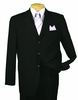 Vinci Men's 100% Wool Super 130s Black 3 Button Suit 3w130-1