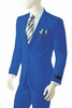 Mens Bright Royal Blue Suit Vittorio St. Angelo A72TE