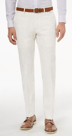 Vinci Mens All White Slim Fit Pants OS-900