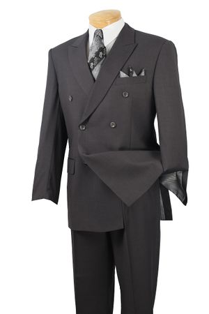 Vinci Mens Big and Tall Double Breasted Executive Suit NDC900-1C - click to enlarge