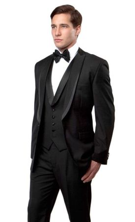 Mens Black Slim Fit Tuxedo Prom Bryan Michaels MT239S-00