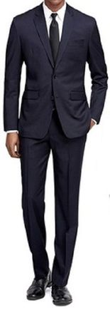 Extra Tight Slim Fit Suits Men's Navy Blue 2 Button Fitted Vinci US900-1 Size 40 Long Final Sale