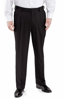 Vinci Mens Black Pleated Dress Pants Super 150s OP-900