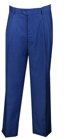Vinci Mens French Blue Dress Pants Pleated OP-900