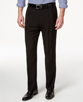 Vinci Mens Brown Pleated Dress Pants OP-900
