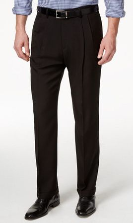 Vinci Mens Brown Pleated Dress Pants Suit Slacks OP-900