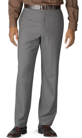 Vinci Mens Gray Dress Pants Flat Front ON-900