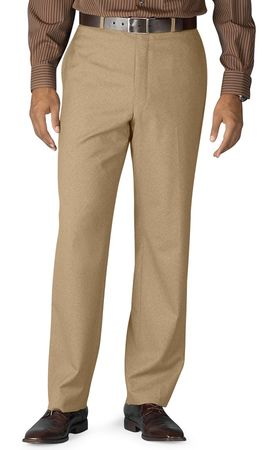 Vinci Mens Khaki Flat Front Pants ON-900