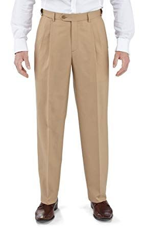 Vinci Mens Khaki Pleated Dress Pants OP-900