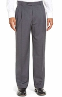 Vinci Mens Medium Gray Pleated Dress Pants OP-900