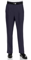 Vinci Mens Navy Blue Pleated Dress Pants OP-900