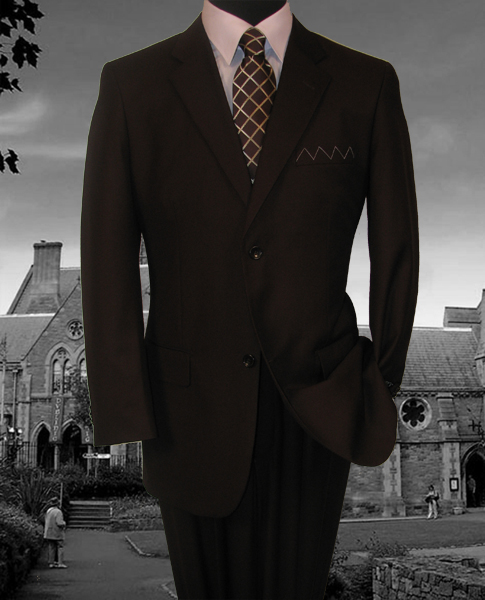 Men/'s Suit Single Breasted 2 Buttons 2 Piece Classic Fit Solid Colors 2C900-2