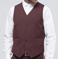Vinci Mens Burgundy Suit Vest OV-900