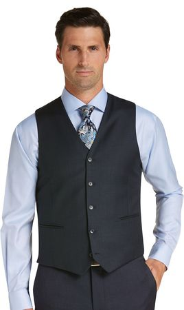 Vinci Mens Charcoal Gray Suit Vest OV-900 - click to enlarge