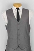Vinci Mens Gray Suit Vest OV-900