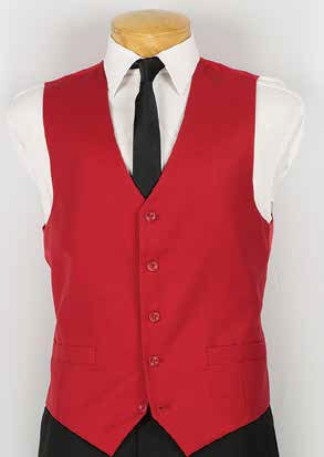 Vinci Mens Red Suit Vest OV-900