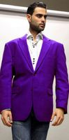 Alberto Nardoni Mens Colorful Purple Velvet Blazer Jacket Velvet-2BV Size 2XLarge Final Sale