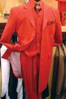 Zoot Suits for Men Bright Red 3 Piece by Alberto Zoot-100
