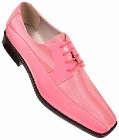 Viotti Mens Pink Stripe Satin Tuxedo Shoes 179 IS - click to enlarge