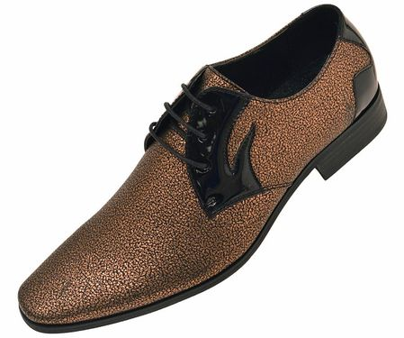 Amali Men's Gold Glitter Tuxedo Dress Shoes Dazzler 035